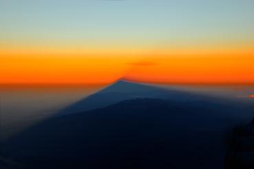 Shadow of Mount Ararat at summit push
