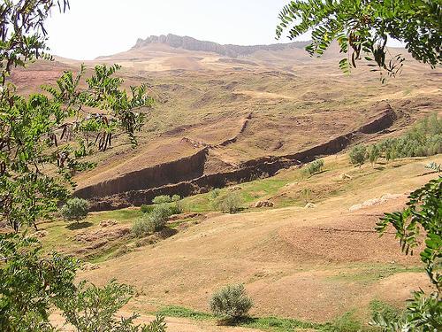 Noah's Ark national park on Mount Ararat. Durupinar formation.